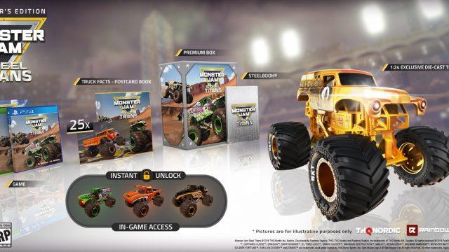 Monster Jam Steel Titans CE Full Contents